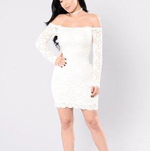 Fashion Nova lace off-shoulder dress